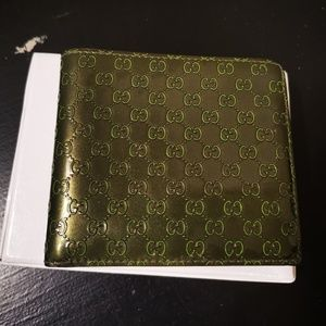 Gucci Green Bifold Wallet